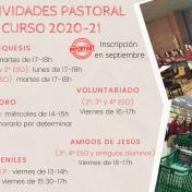 Actividades de Pastoral 2020-2021