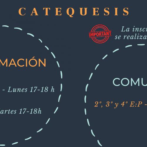 Cartel catequesis 2020-21